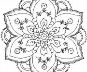 Coloriage Mandala Fleurs Gratuit Imprimer