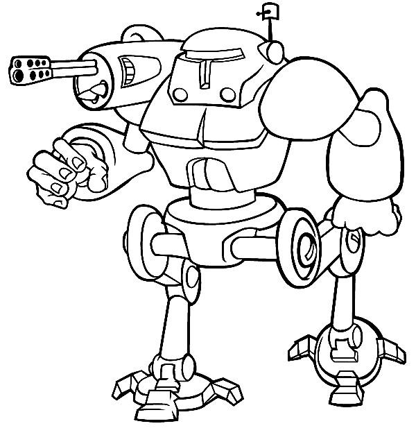 Coloriage Robot De Guerre Quip Dessin Gratuit Imprimer