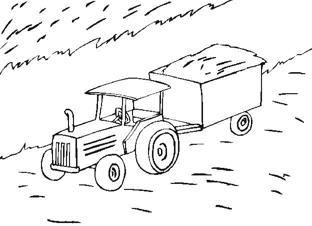 Coloriage Tracteur Agriculture Dessin Gratuit Imprimer