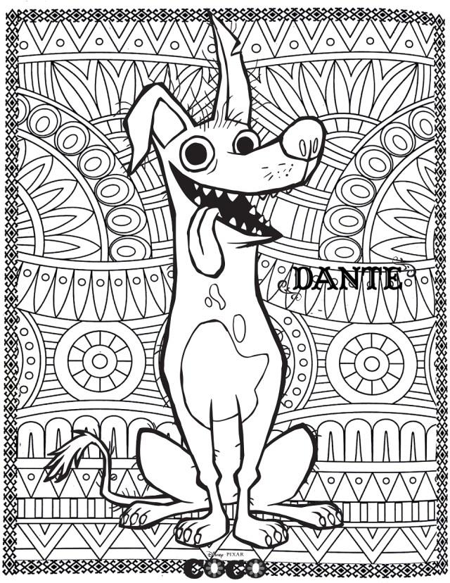 Dessin de Coco gratuit à imprimer et colorier - Coloriage Coco