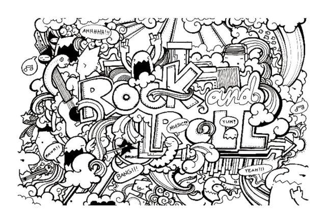 Complexe doodle doodling 21 gratuit a imprimer - Coloriage adulte