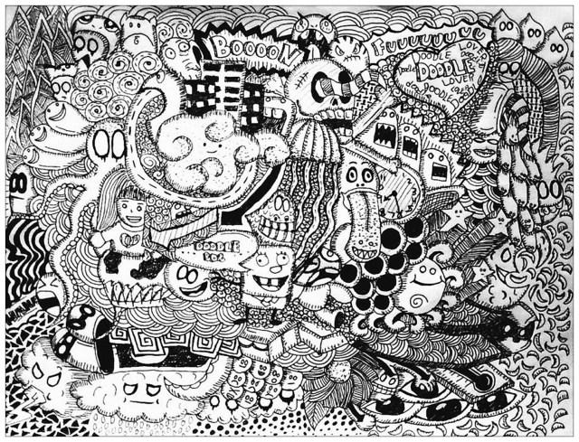 Complexe doodle lover - Coloriage adulte - Coloriages pour enfants