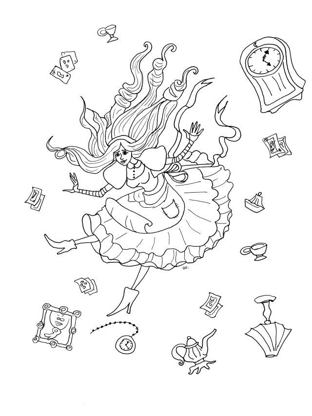 Alice au pays des merveilles - Coloriage Disney - Coloriages pour
