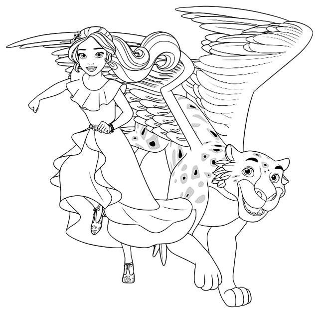 Coloriage de Elena Avalor à colorier pour enfants - Coloriage
