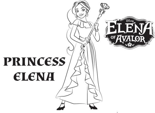 Princess elena - Coloriage Elena Avalor - Coloriages pour enfants