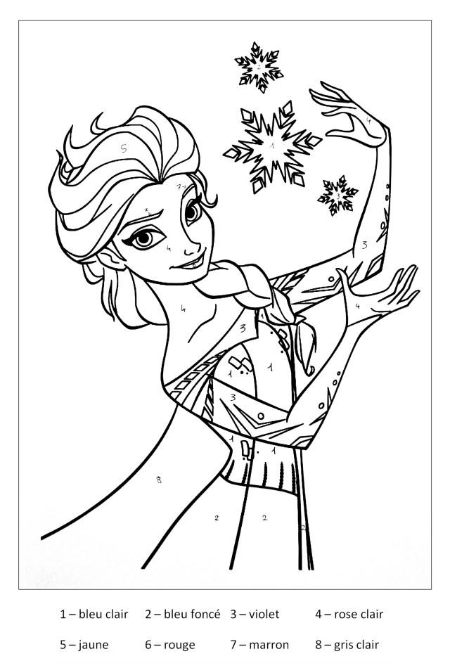 Coloriage de Elsa La reine des neiges gratuit à colorier