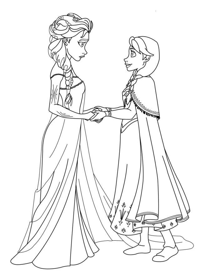 Coloriages des personnages de la reine des neiges - Coloriage La