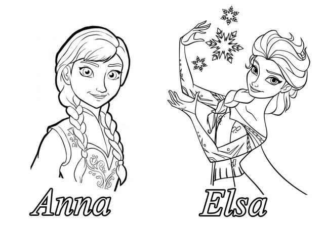 Reine neige disney soeurs10 - Coloriage La reine des neiges