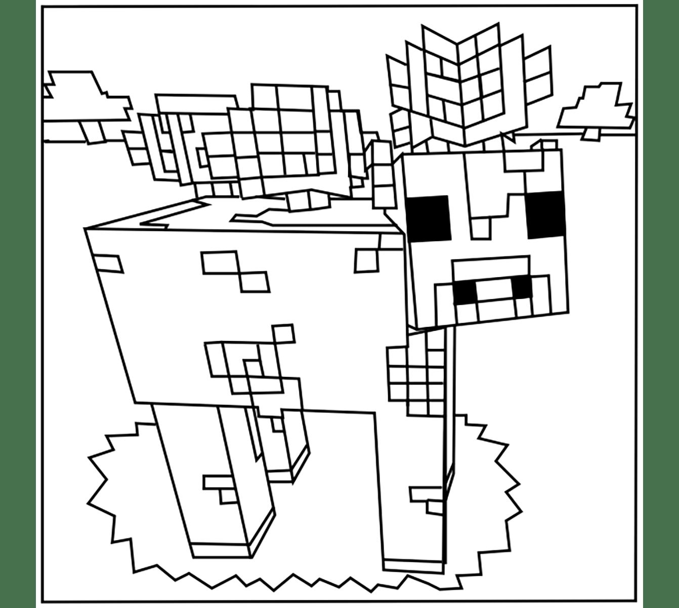 Coloriage De Minecraft Pour Enfants Coloriage Minecraft Coloriages Pour Enfants