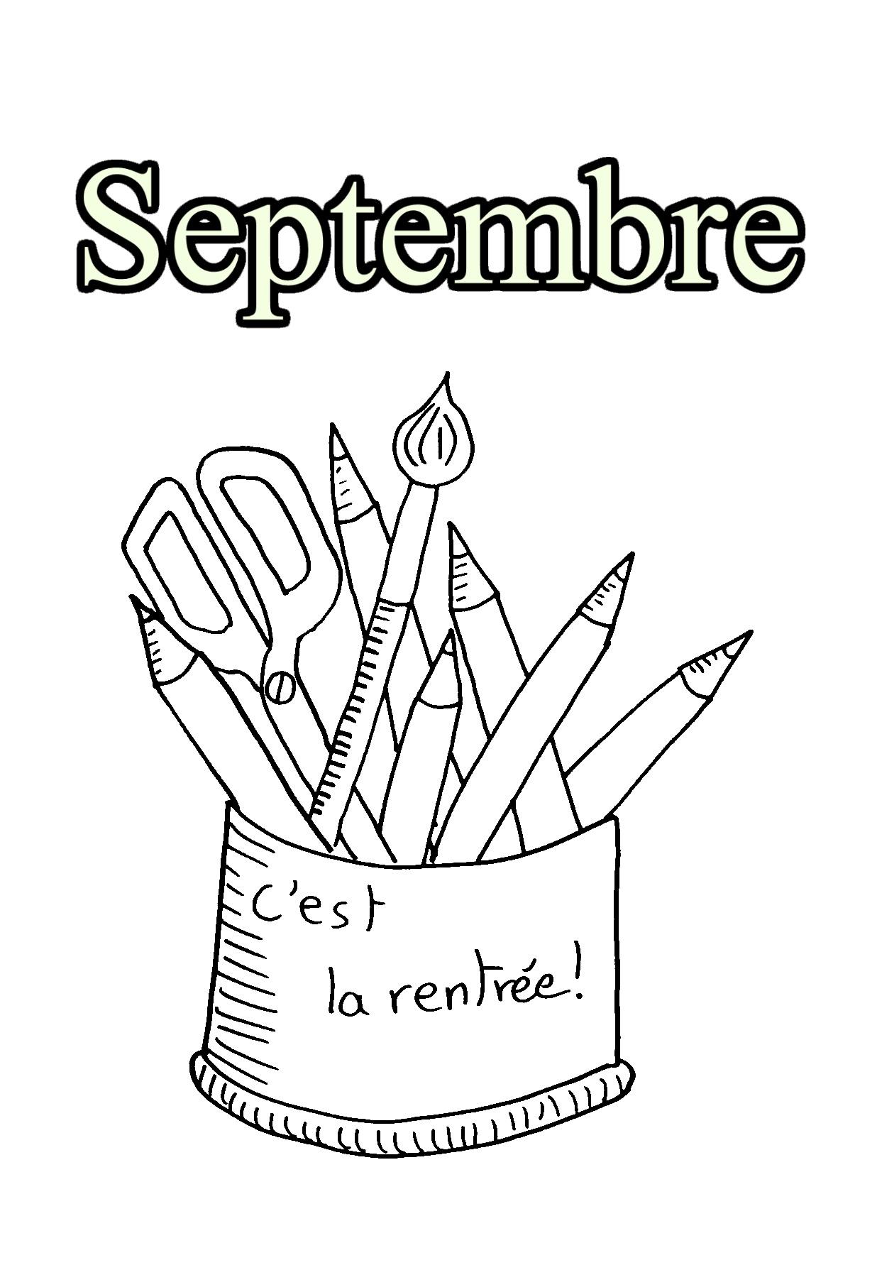 09 Septembre Coloriages Imprimer Gratuits