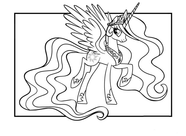 Dessin de Petit poney gratuit à télécharger et colorier