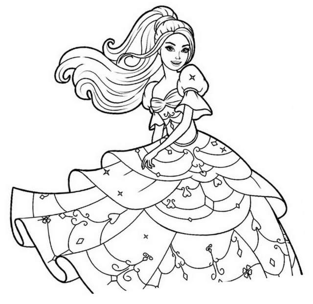 Image de Princesse à imprimer et colorier - Coloriage princesses