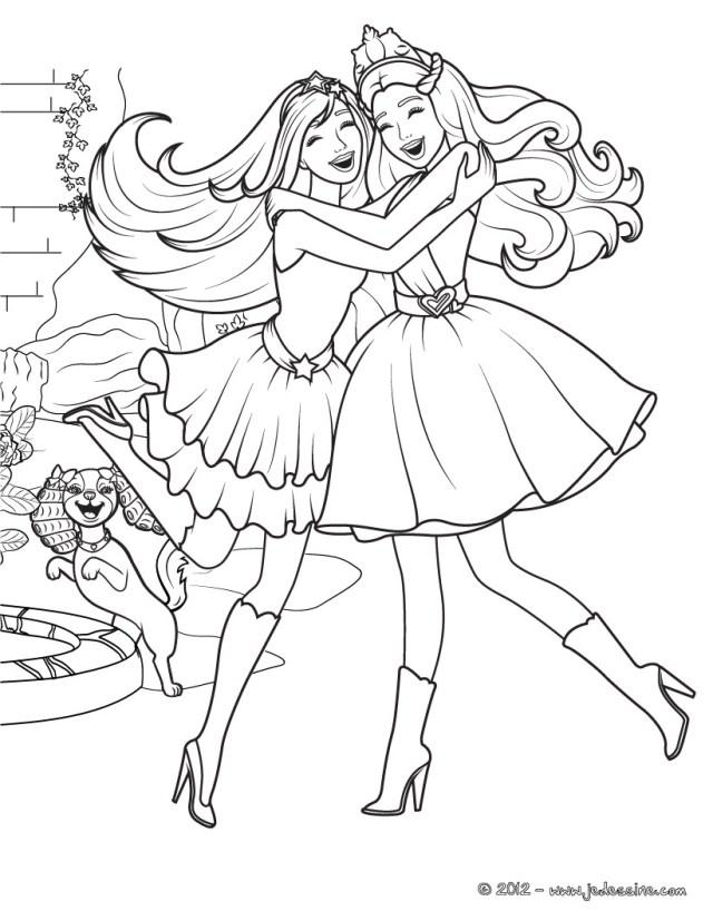 Dessin de Princesse gratuit à imprimer et colorier - Coloriage