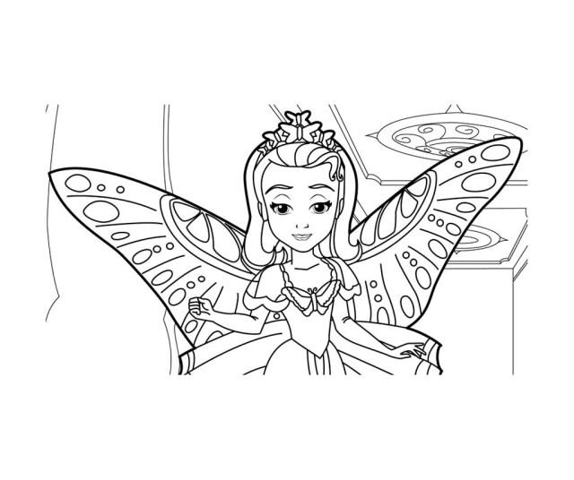 Coloriage de Princesse Sofia Disney à imprimer gratuitement