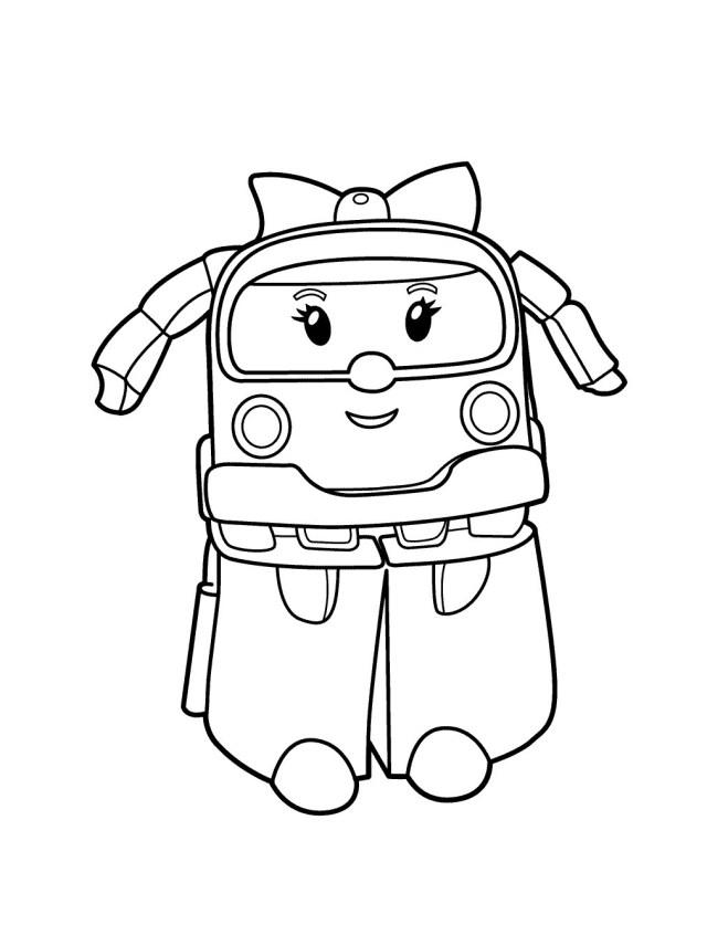 Coloriage de Robocar Poli à télécharger - Coloriage Robocar Poli