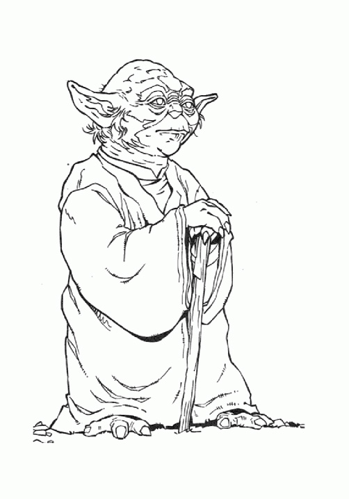 Star Wars Yoda 11 Coloriage Star Wars Coloriages Pour