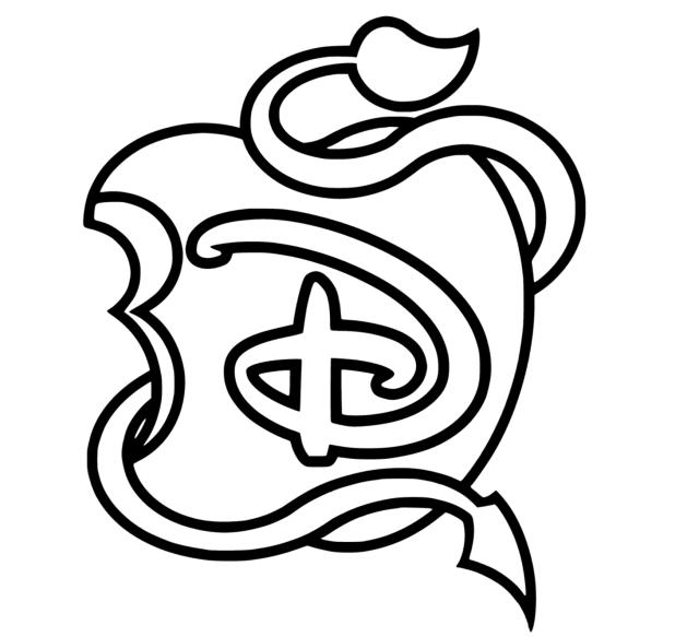 The descendants disney mini logo - Coloriage The Descendants