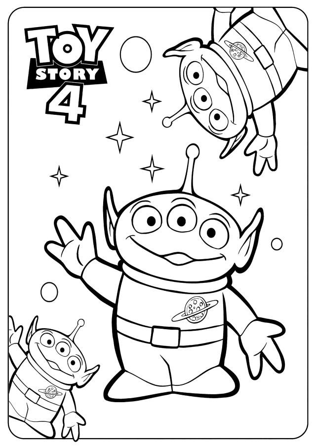 Les extraterrestres : Coloriage de Toy Story 30 à imprimer pour