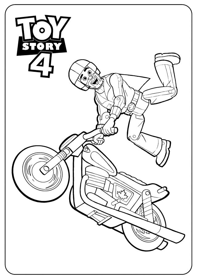 Duke Kaboom : Coloriage de Toy Story 25 à telecharger gratuitement