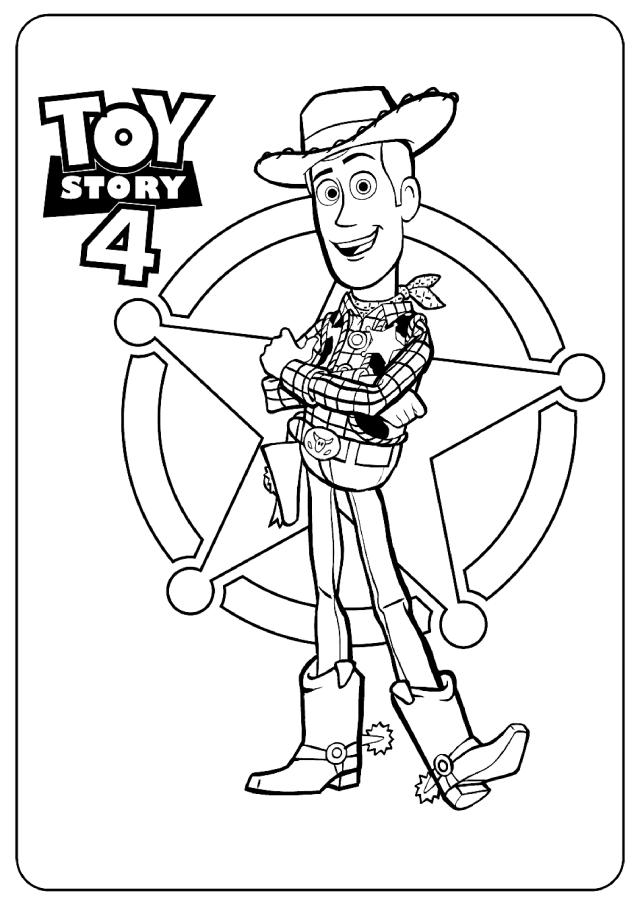 Woody : Coloriage de Toy Story 30 à imprimer gratuitement