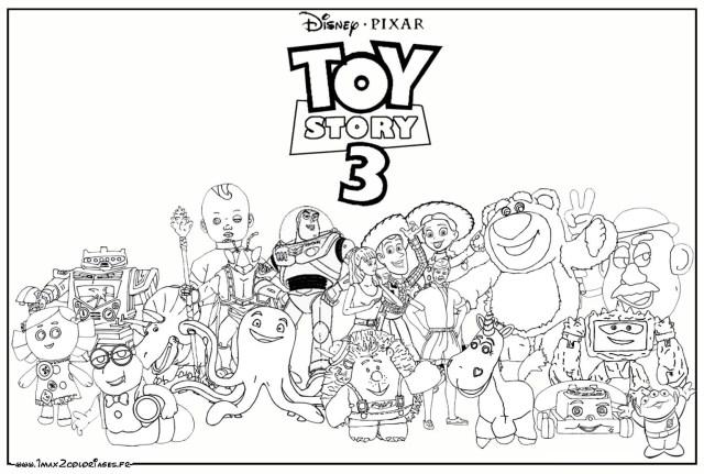 Coloriage de Toy Story à imprimer gratuitement - Coloriage Disney