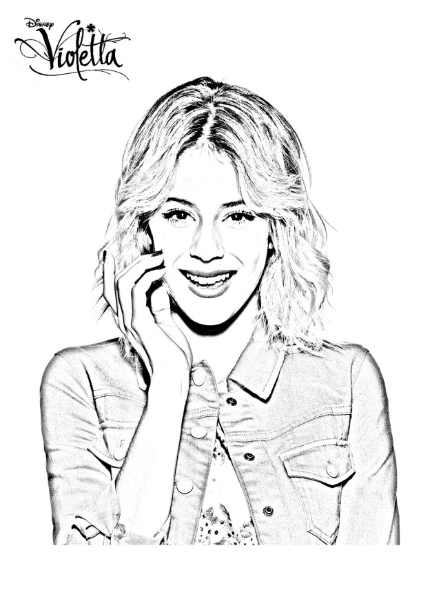 Violetta saison 23 blonde - Coloriage Violetta - Coloriages pour