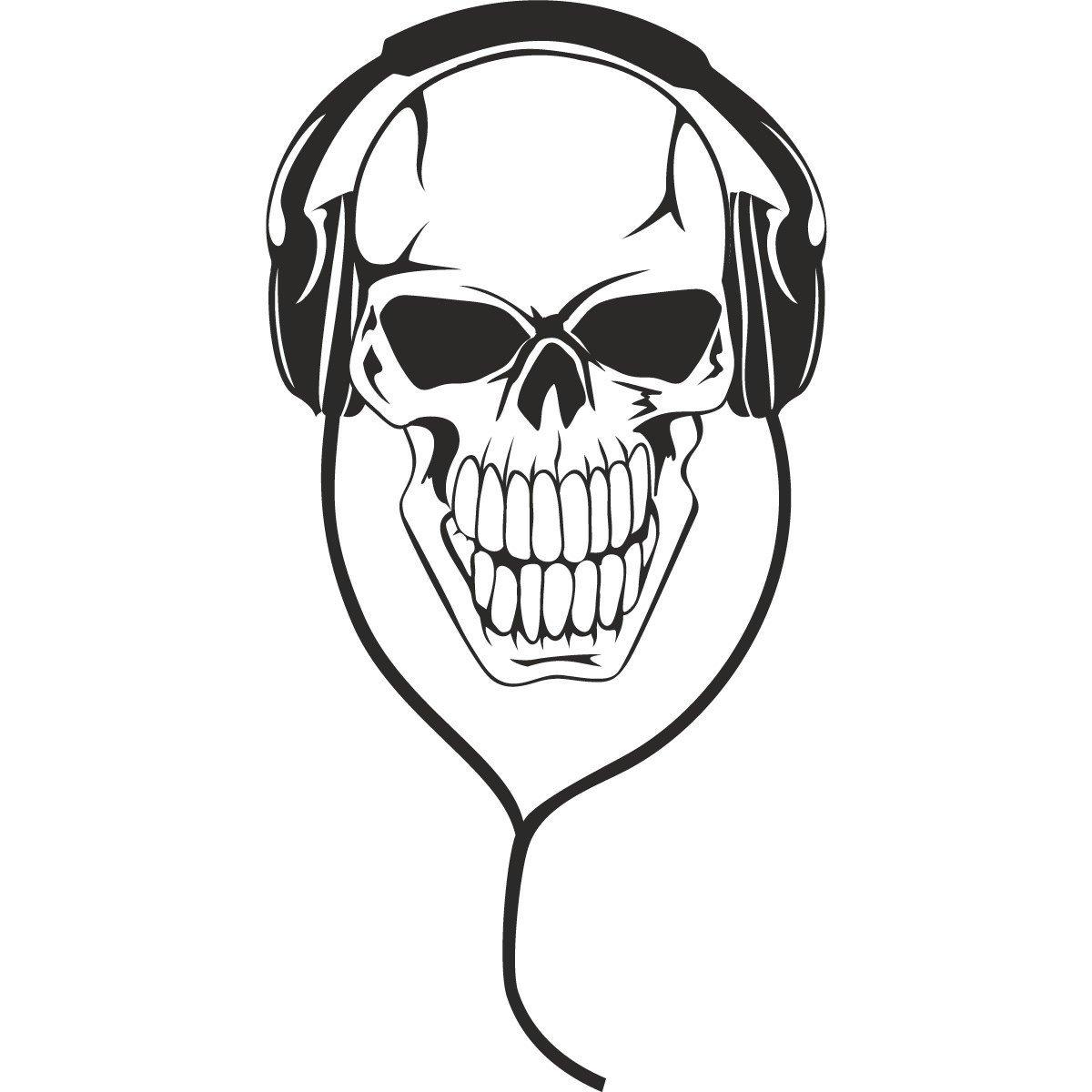 coloriage tête de mort à imprimer sur coloriages info