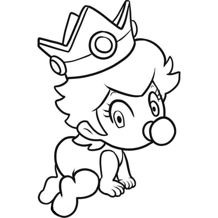 Printable Princess Peach Coloring Pages For Kids | 699x699