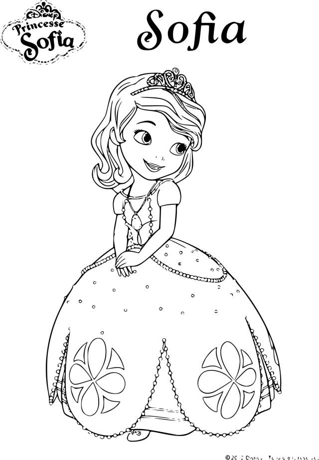 Coloriage de Princesse Sofia Disney à imprimer sur Coloriage DE .com