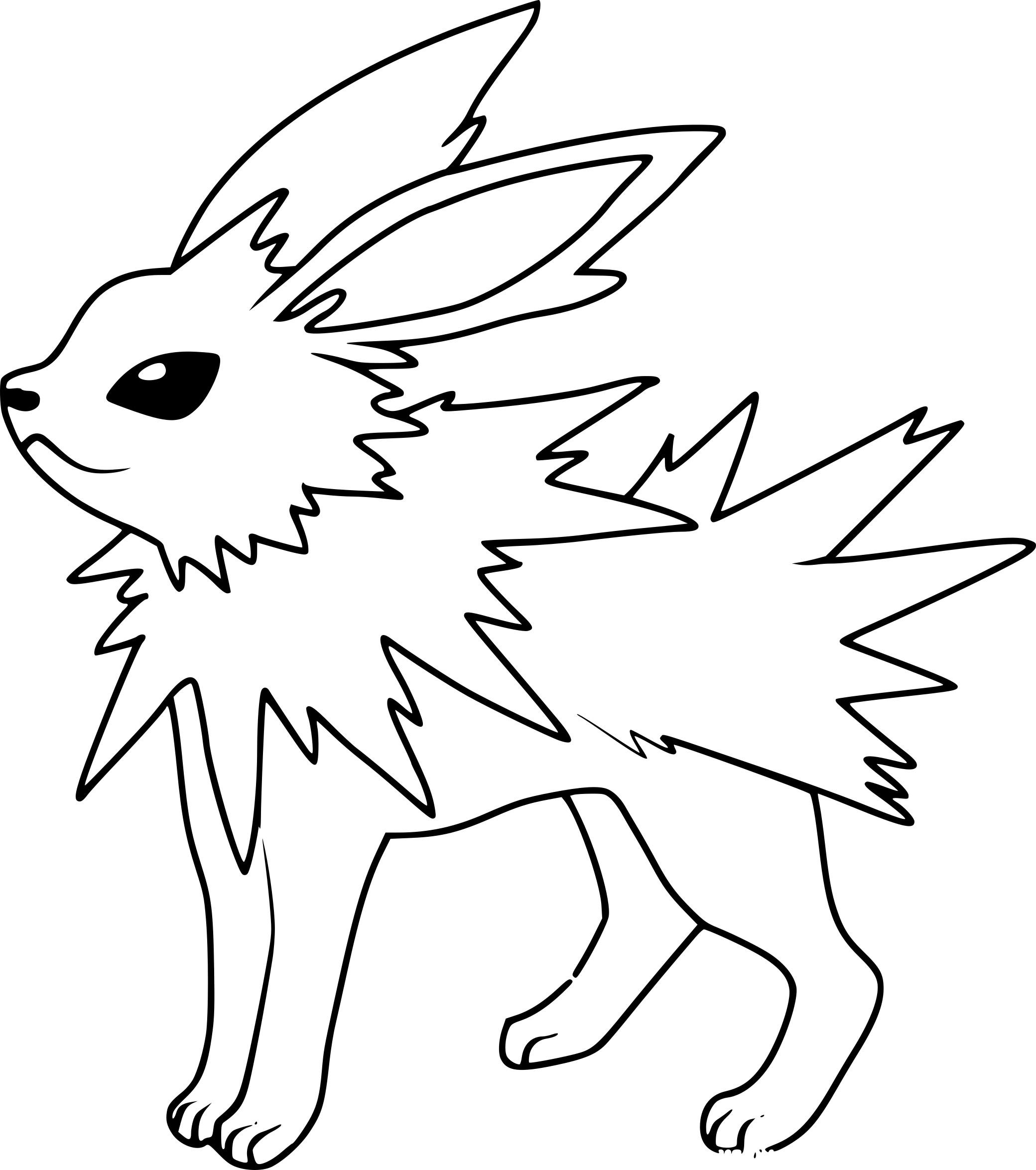 Beau Dessin A Imprimer Pokemon Voltali Mademoiselleosaki
