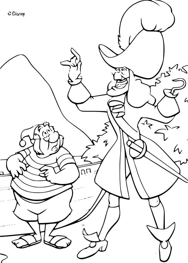 Coloriage de pirate Capitaine Crochet à imprimer sur Coloriage DE .com