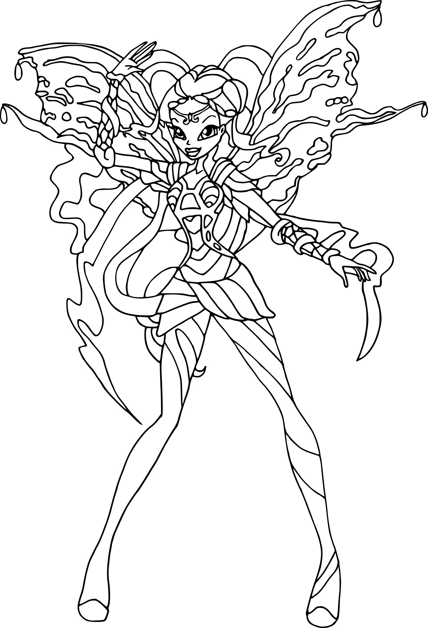 Layla Winx Believix Coloring Pages Coloring Pages