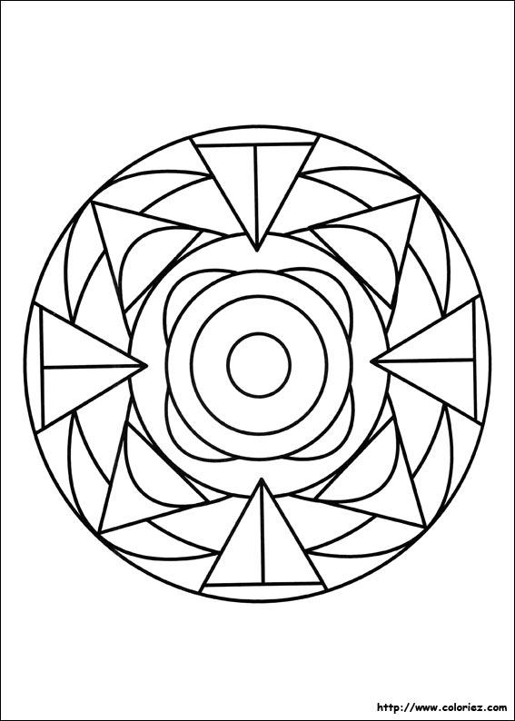 le coloriage mandala pliage de la catégorie mandalas est sur ton site
