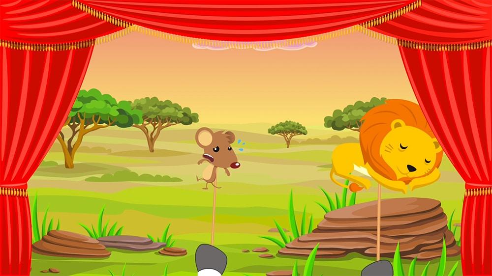 Fábula infantil el león y el ratón