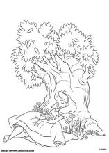 alice in wonderland coloring page # 14