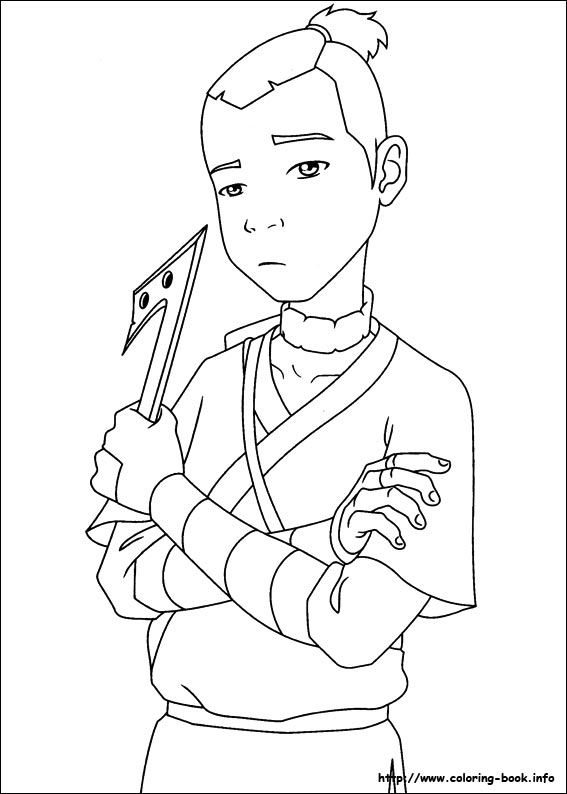 avatar aang coloring pages - photo#34