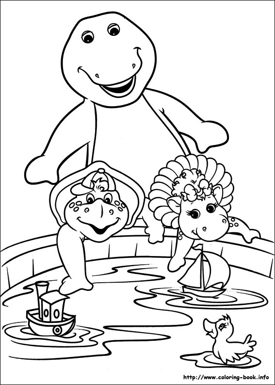 barney and friends coloring pages on coloring book info