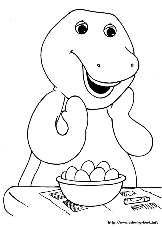 barney coloring pages aaldtk