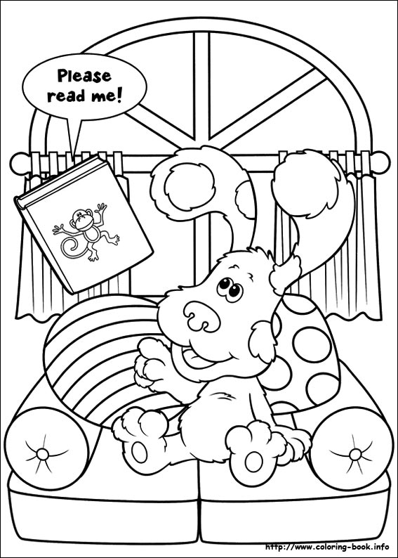 blues clues coloring pages egowtk