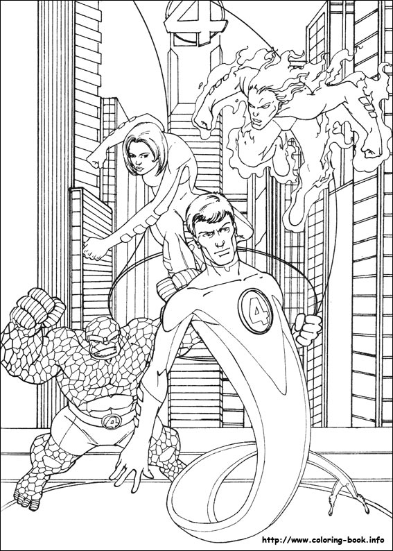fantastic four coloring pages # 8