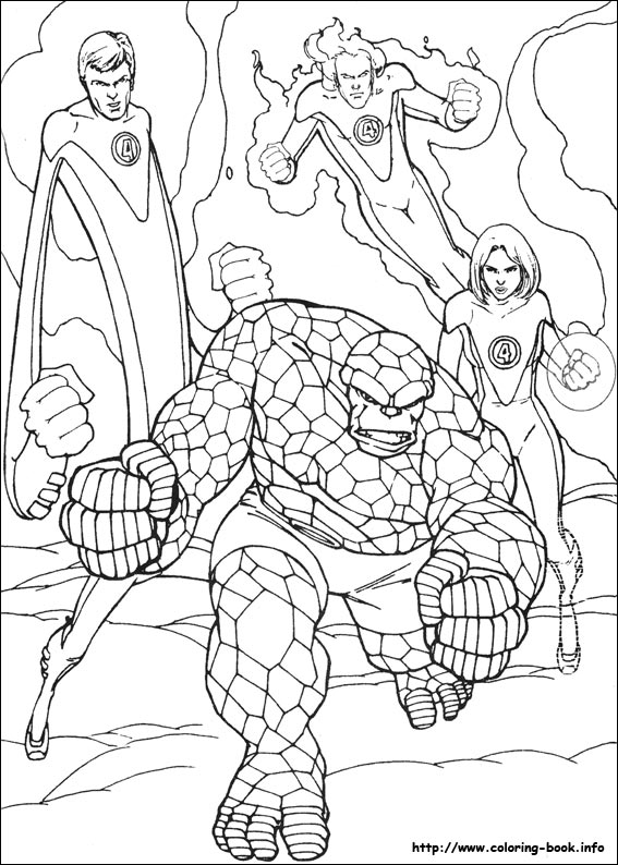 fantastic four coloring pages # 15