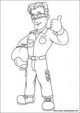 fireman coloring page # 10