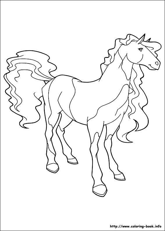 horseland coloring pages on coloring book info