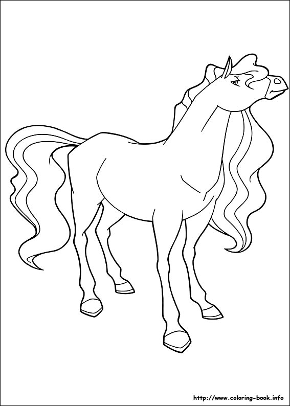 horseland coloring picture