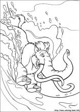 ice age coloring pages on coloring book info