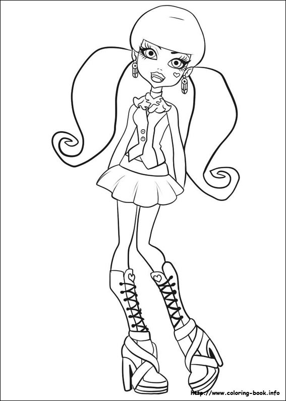 printable monster high coloring pages # 14