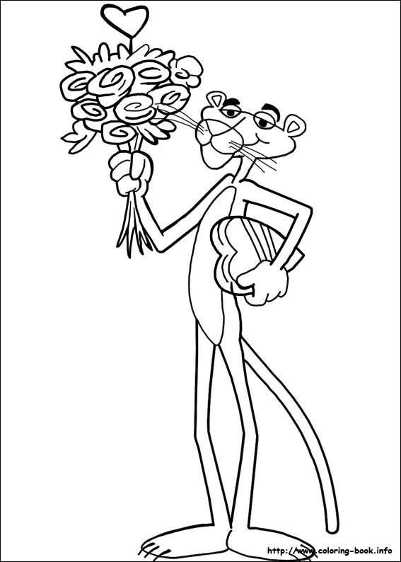 pink panther coloring pages # 3