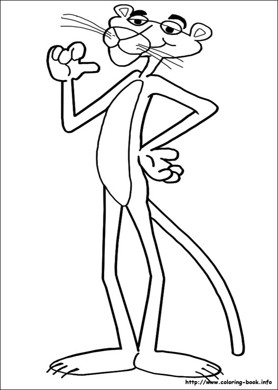 pink panther coloring pages # 5