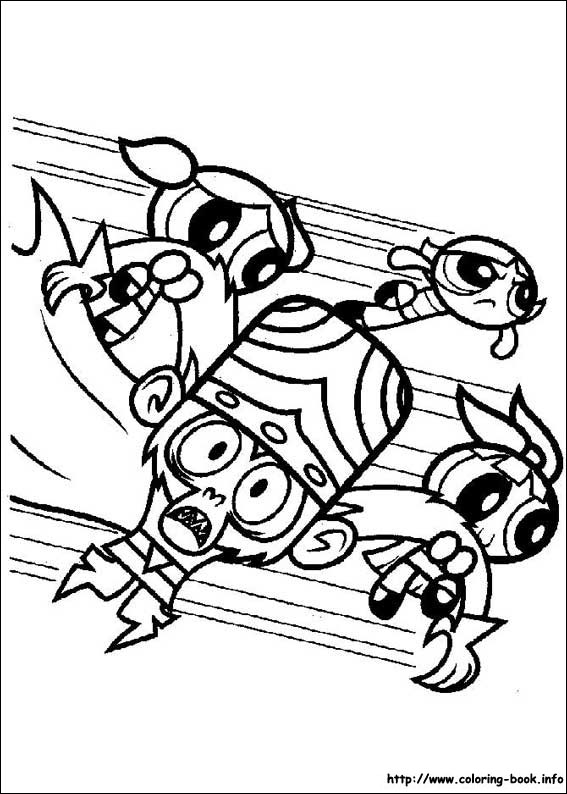 powerpuff girls coloring pages on coloring book info