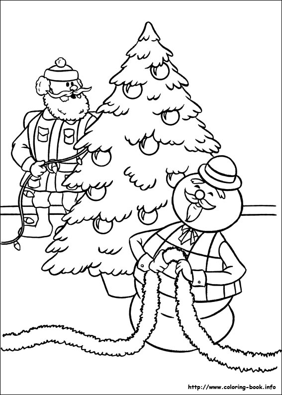 rudolph the red nosed reindeer coloring page # 15